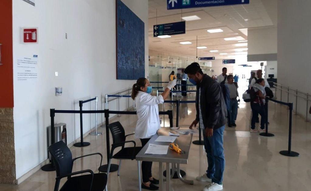 Instalan filtros de detección de coronavirus en aeropuerto de Oaxaca