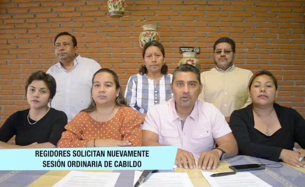 Regidores de Santa Lucía del Camino acusan a edil de contratar a un grupo de choque para agredirlos