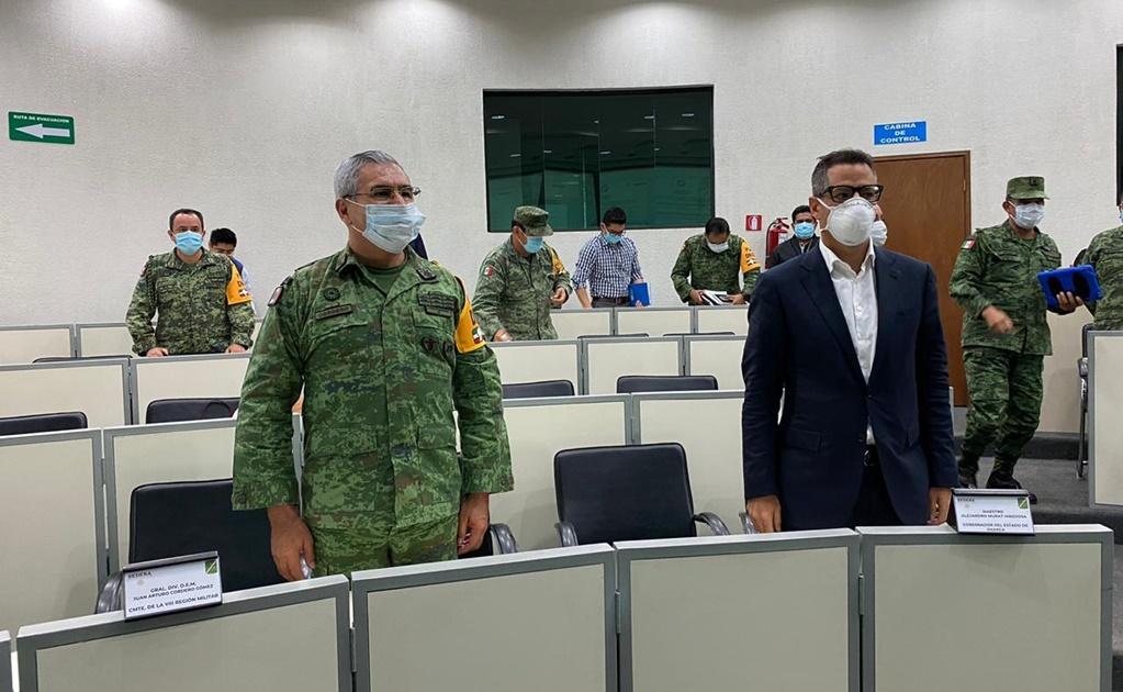 Murat y Ejército afinan Plan DN-III ante pandemia: militares están listos para atender a oaxaqueños