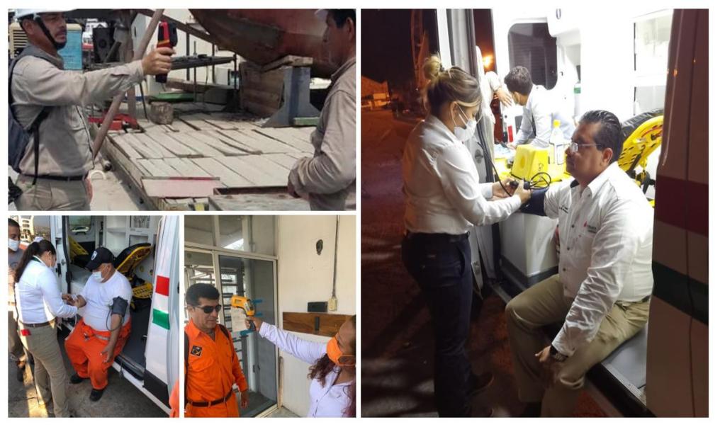 Instala Pemex filtros sanitarios para prevenir contagios de Covid-19 en el puerto petrolero de Salina Cruz