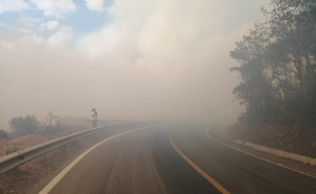 Vuelve el fuego a Ayutla, brigadas y comuneros combaten el incendio que ha devastado 80 hectáreas de bosque