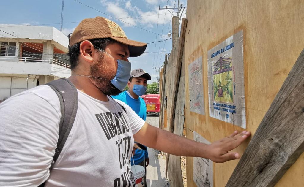 Con la enseñanza del maestro Toledo, jóvenes informan sobre coronavirus en zapoteco