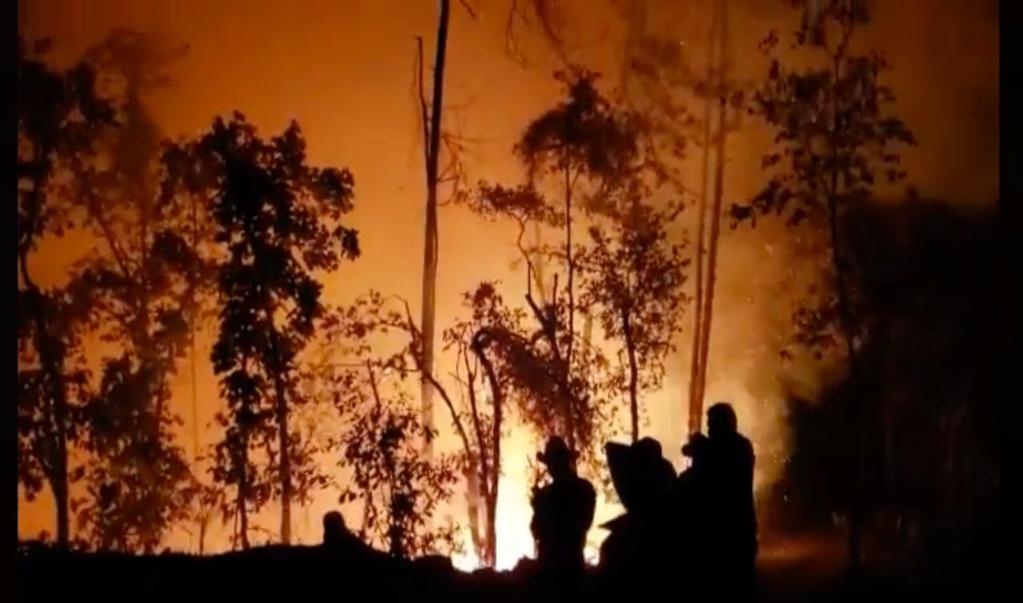 Sube a 8 el número de muertos por incendio forestal en la Mixteca