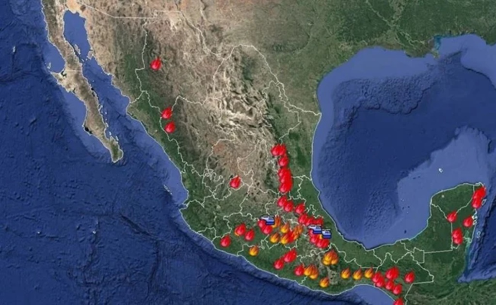México tiene 77 incendios forestales en 20 estados; afectan áreas naturales protegidas