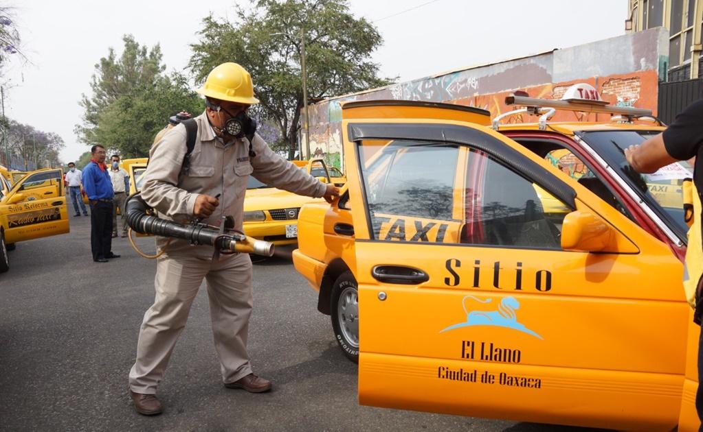 Sanitizan más de dos mil unidades de transporte público en Oaxaca por Covid-19
