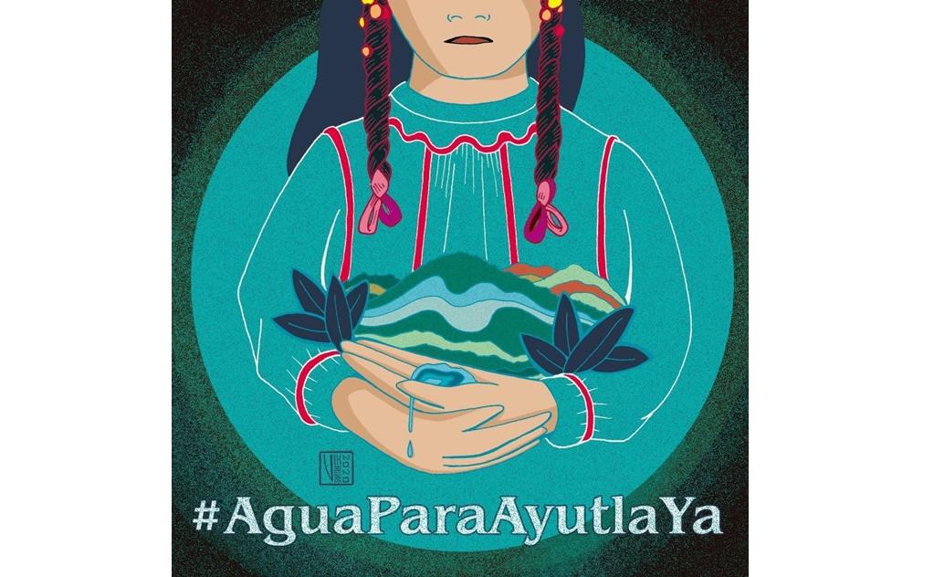"""Con """"Ilustratona"""", artistas y escritores exigen agua para Ayutla, la comunidad lleva más de mil días de sed"""