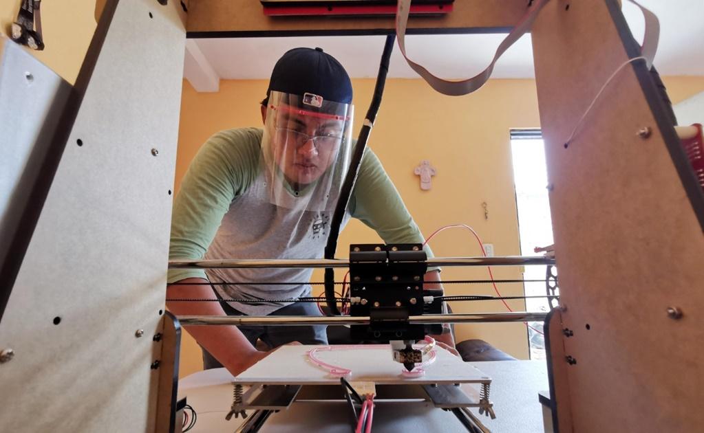 """Con tecnología 3D, """"makers"""" se unen para proteger a personal médico contra coronavirus"""