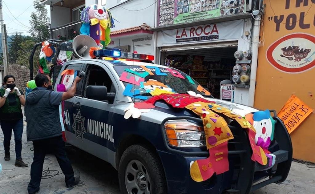 """Para no olvidar a la niñez en su día en la cuarentena, recorren Ixtlán de Juárez con """"Caravana de la Alegría"""""""