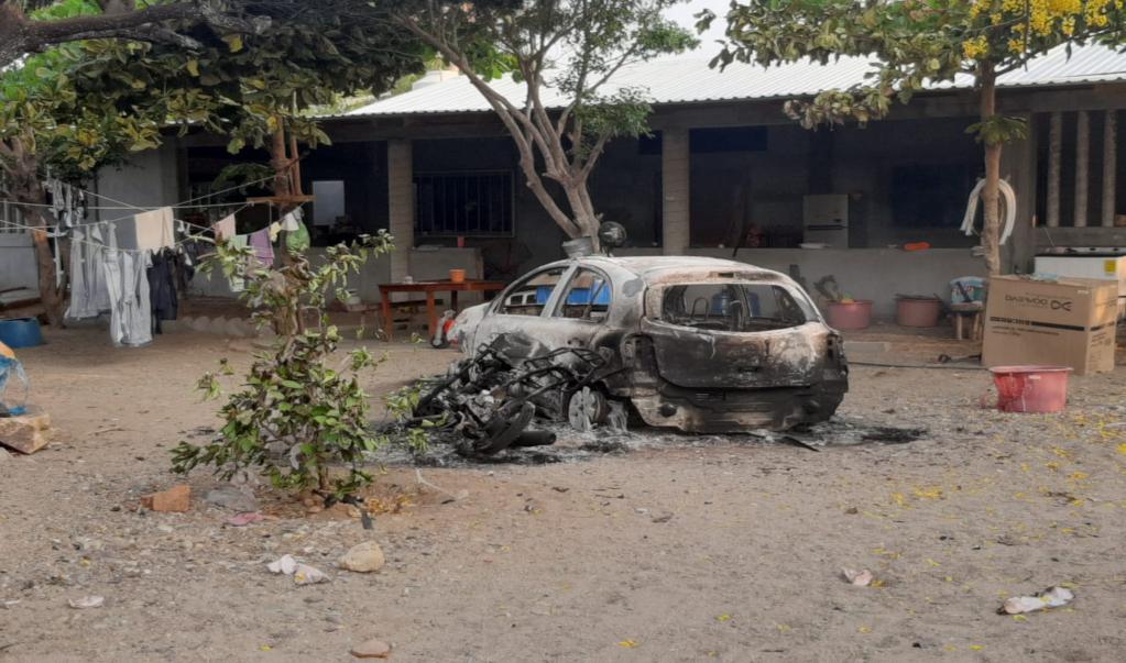 Queman viviendas y vehículos en agencia de San Mateo del Mar que estaba aislada contra el Covid-19