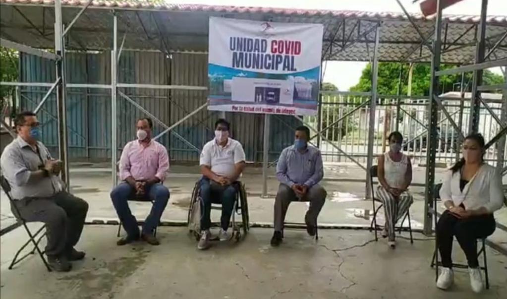 Ante avance de contagios, en Ciudad Ixtepec inician construcción de Unidad Covid-19 municipal