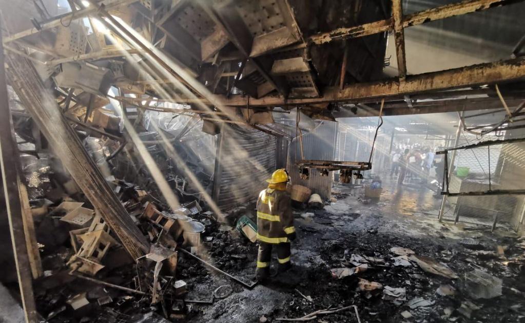 Corto circuito causó incendio en la Central de Abasto: Fiscalía General