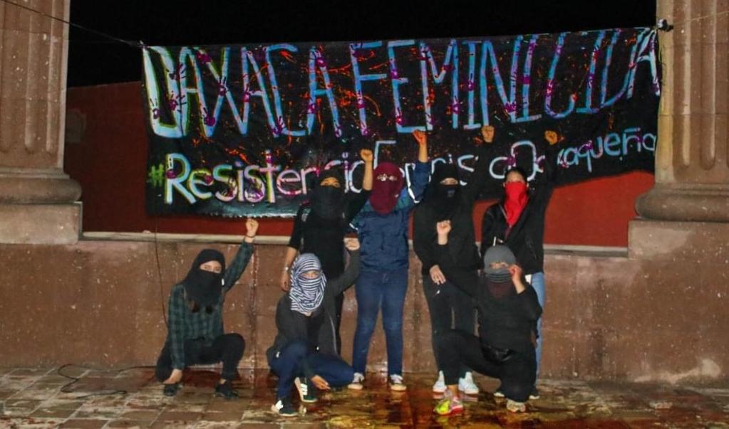 Protestan mujeres en las regiones de Oaxaca contra violencia feminicida en Tuxtepec