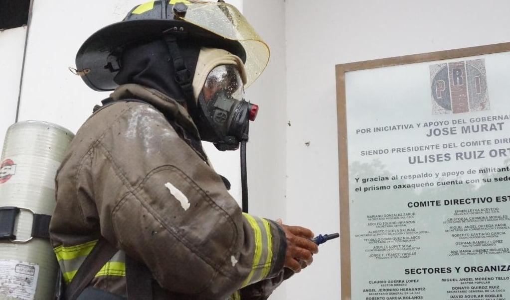 PRI Oaxaca exige que se indague y esclarezca incendio en sus oficinas estatales