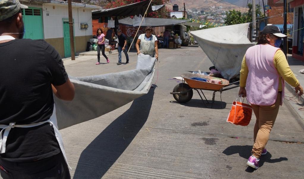 """Preparan comerciantes de la capital de Oaxaca reapertura de negocios en """"nueva normalidad"""""""
