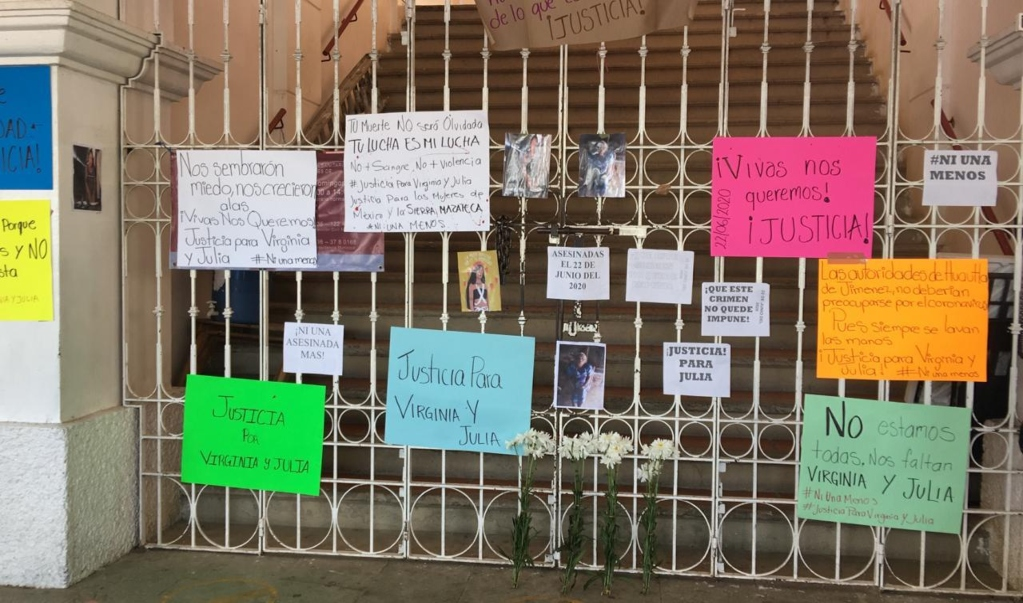 Con protesta pacífica, exigen justicia por Virginia y Julia, mujeres mazatecas asesinadas en Huautla