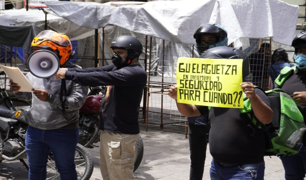 Por tercera ocasión, protestan repartidores para exigir seguridad ante ola de asaltos