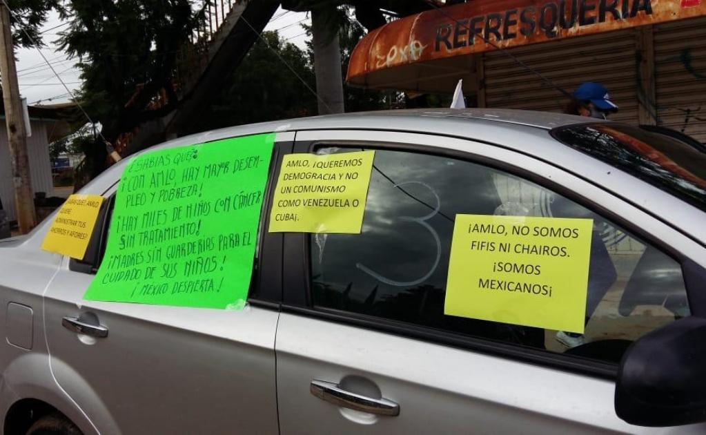 Realizan cuarta caravana contra AMLO en Oaxaca