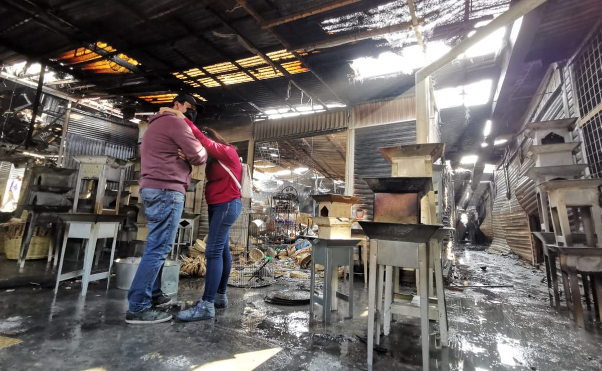 Urgen a entregar apoyos a comerciantes de la Central de Abasto afectados por el incendio