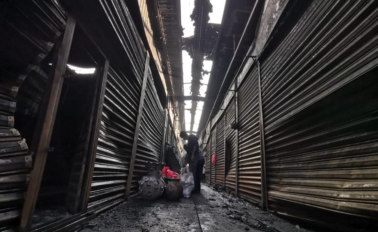 Edil capitalino pide paciencia a comerciantes afectados por incendio de la Central de Abasto