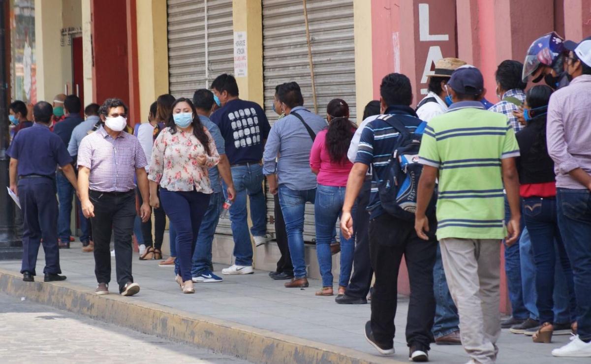 Regresa Oaxaca a semáforo rojo por aumento de contagios de Covid-19; supera 800 muertes