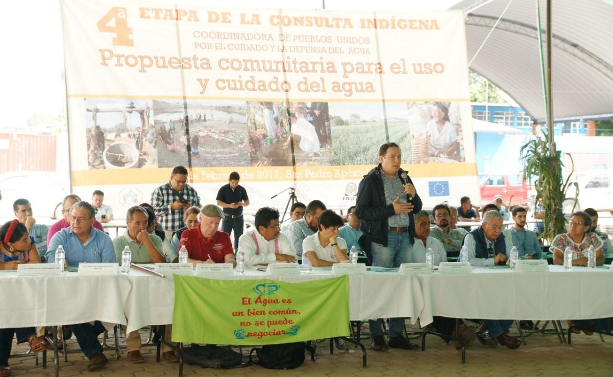 Exigen a Conagua publicar decreto para garantizar agua a 16 pueblos zapotecas de Valles Centrales
