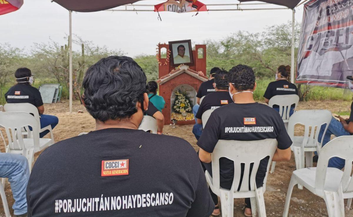 Rinden homenaje en Juchitán al coceista Rolando Vásquez, a cuatro años de su asesinato