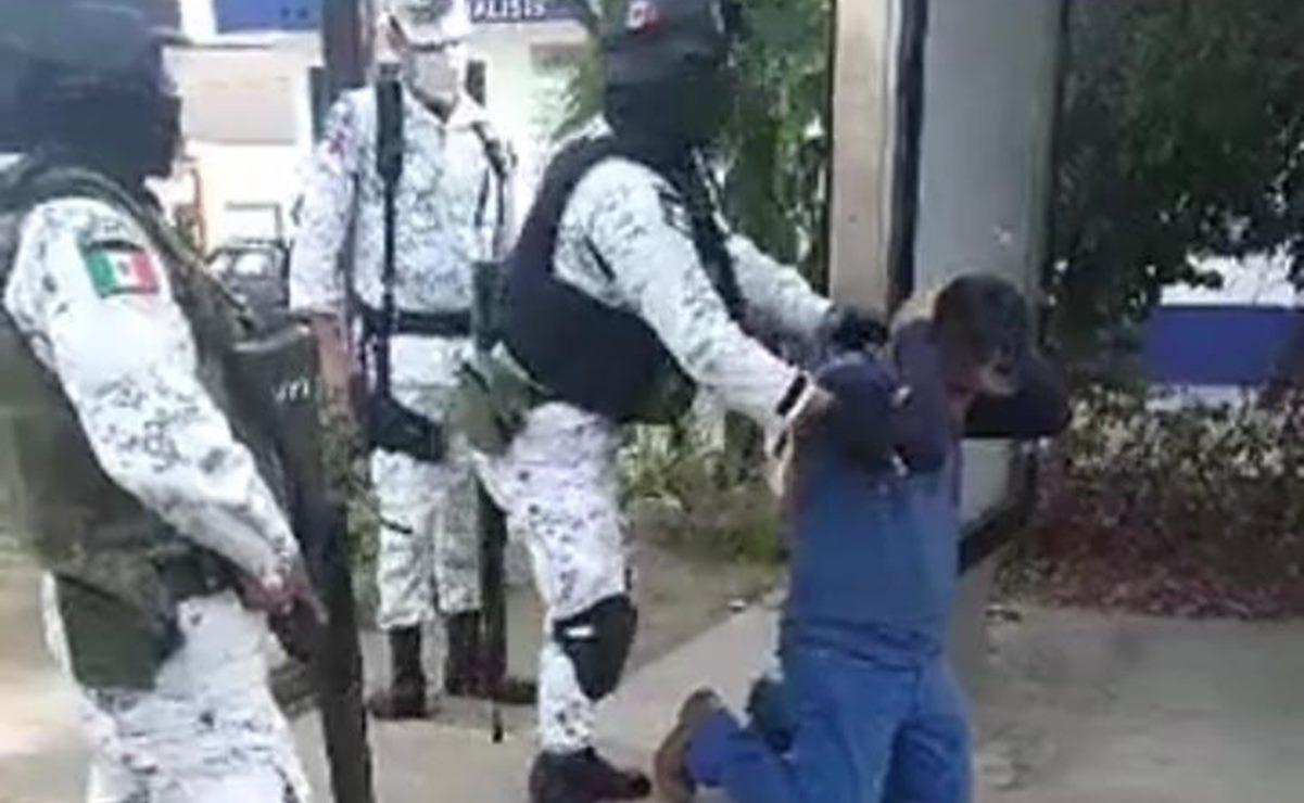 Chocan Guardia Nacional y policía municipal de Oaxaca de Juárez por arresto de ladrón