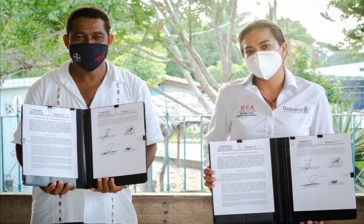 Firma IEEA convenios de trabajo con municipios de la Costa y Sierra Sur contra rezago educativo