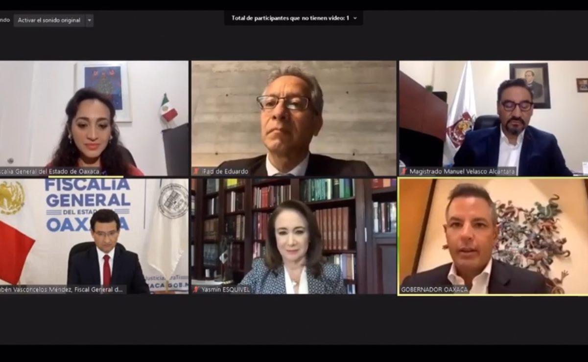 Encabeza Murat videoconferencia sobre retos de la impartición de justicia en medio de la pandemia