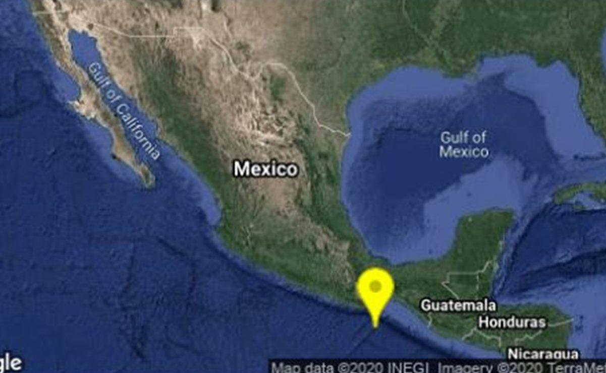 Se registra sismo en Crucecita, al sureste de Oaxaca