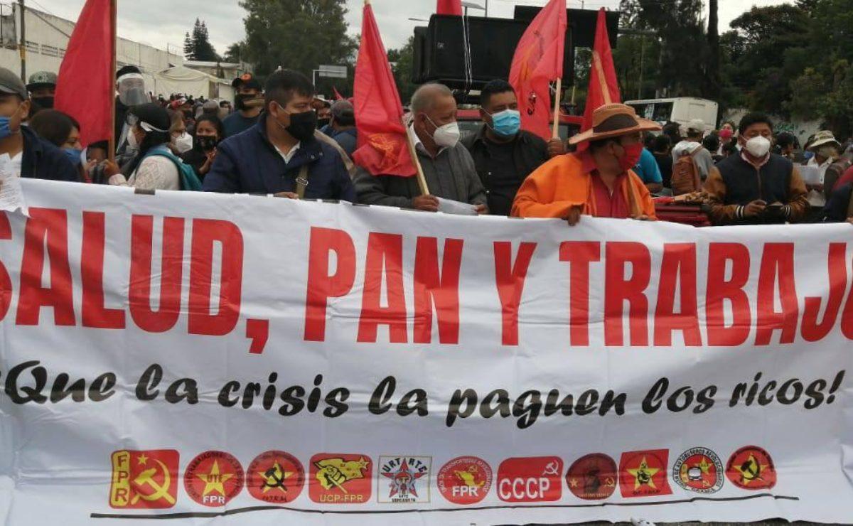 Se moviliza Frente Popular Revolucionario para exigir recursos para obras públicas