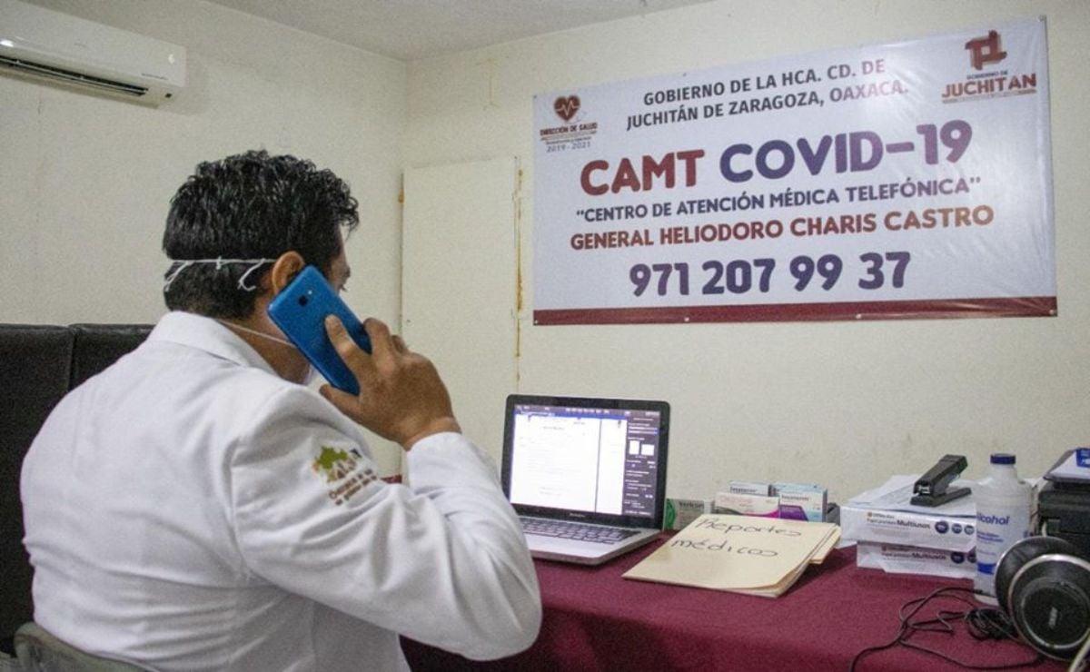 Juchitán también combate al virus por teléfono, ante miedo a contagios en hospitales