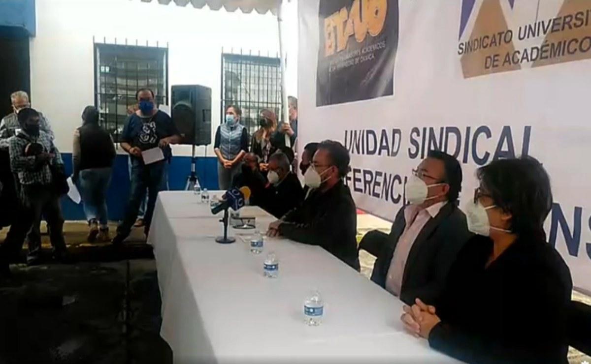 Acuerdan alianza sindicatos de la UABJO, respaldan reforma a pensiones y nueva ley orgánica