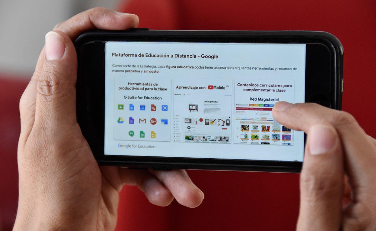 Por clases a distancia, ofrece IEEPO orientación sobre herramientas digitales a docentes