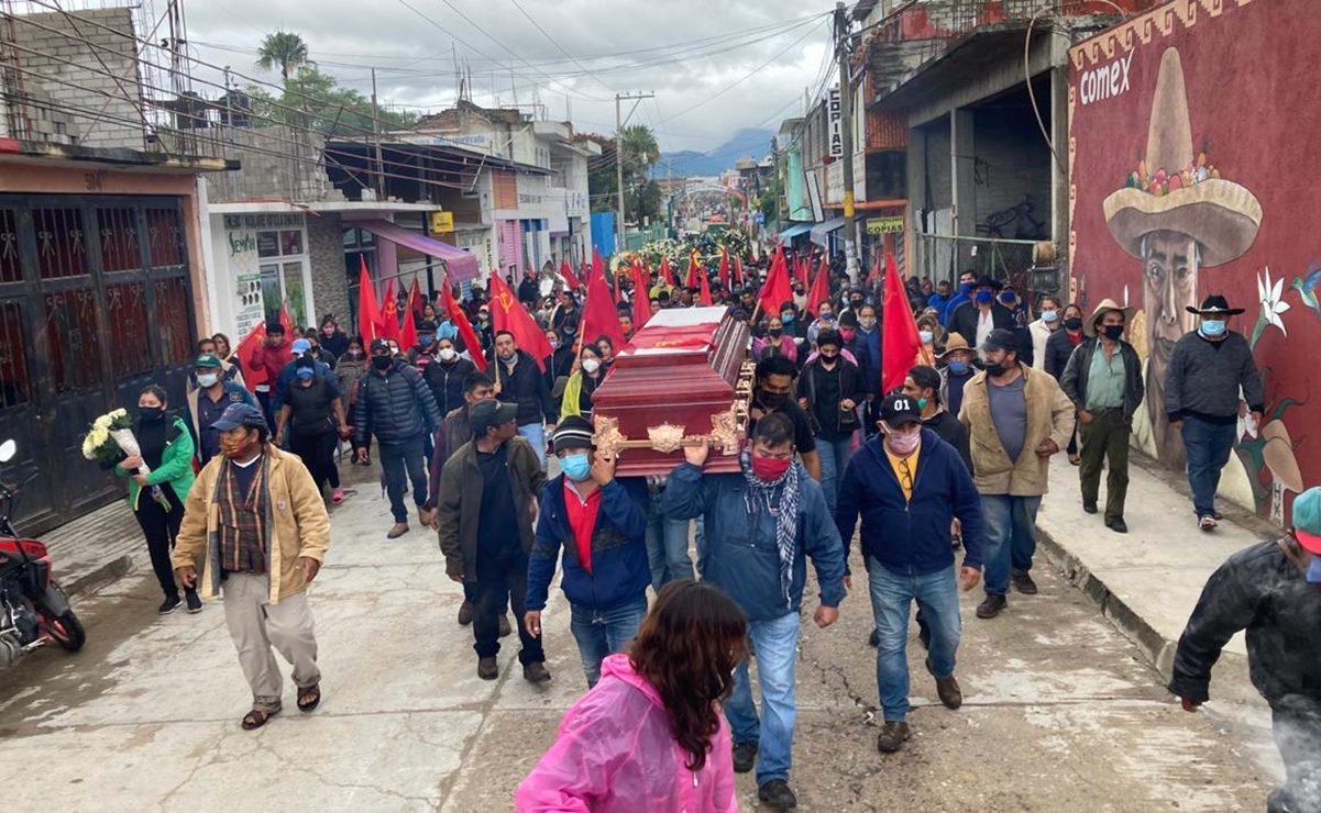 Despiden a líder del FPR en la Sierra Sur; exigen renuncia de funcionarios tras su asesinato