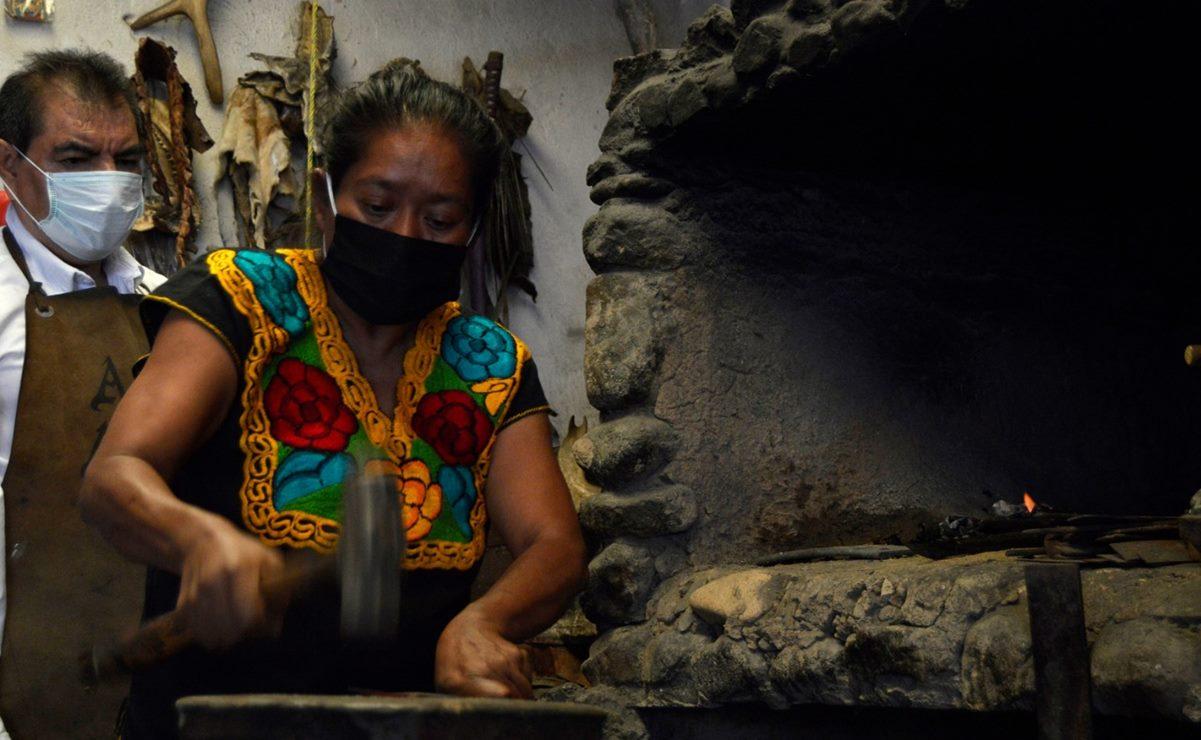 Ante crisis por Covid, una cuchillería sobrevive en manos de su primera maestra artesanal