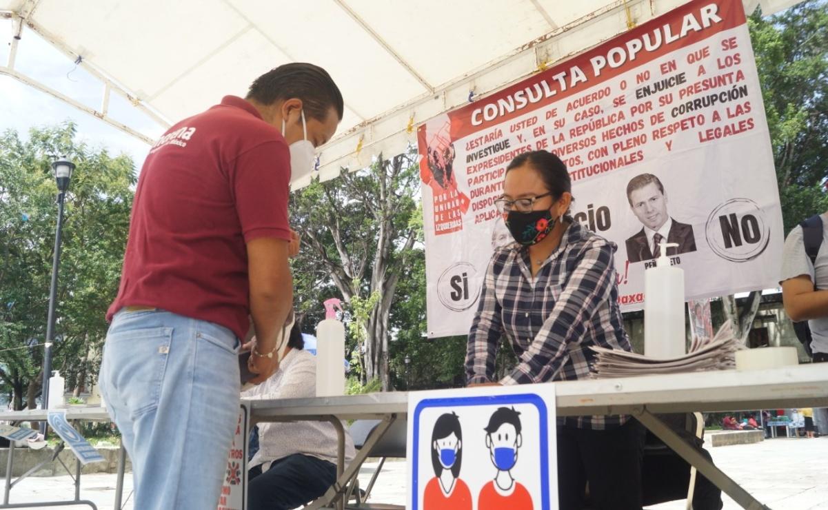 Arranca Morena recolección de firmas en Oaxaca para enjuiciar a Peña Nieto y Calderón