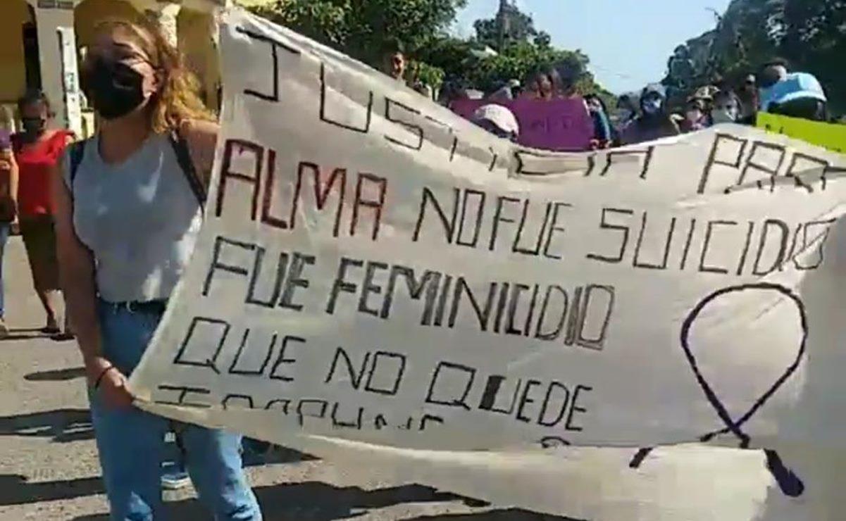 Marchan por Alma en el Istmo; rechazan sucidio y piden indagar su muerte como feminicidio