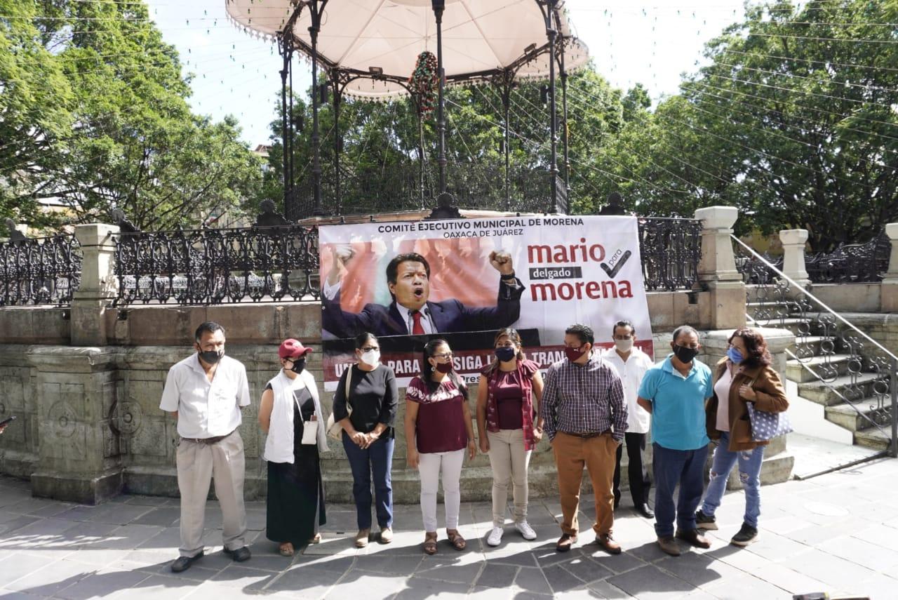 Respalda en Oaxaca candidatura de Mario Delgado a la dirigencia nacional de Morena