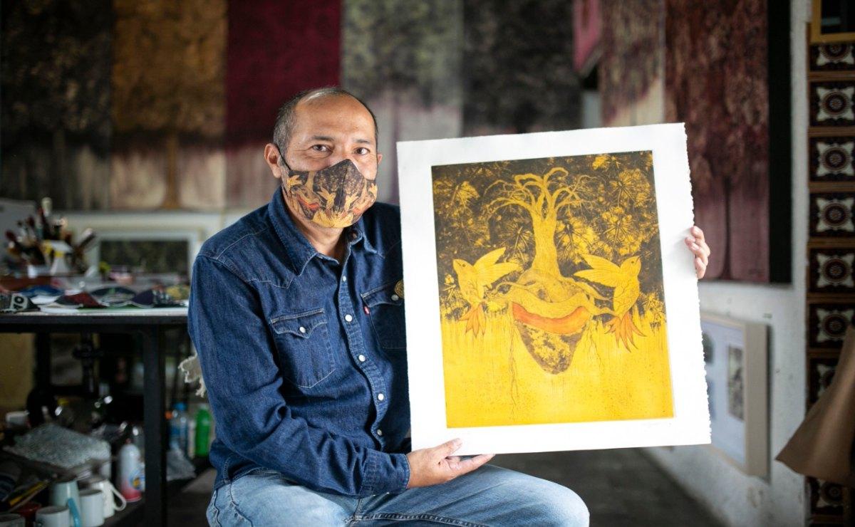 Ahora el arte migra de los lienzos para habitar en cubrebocas