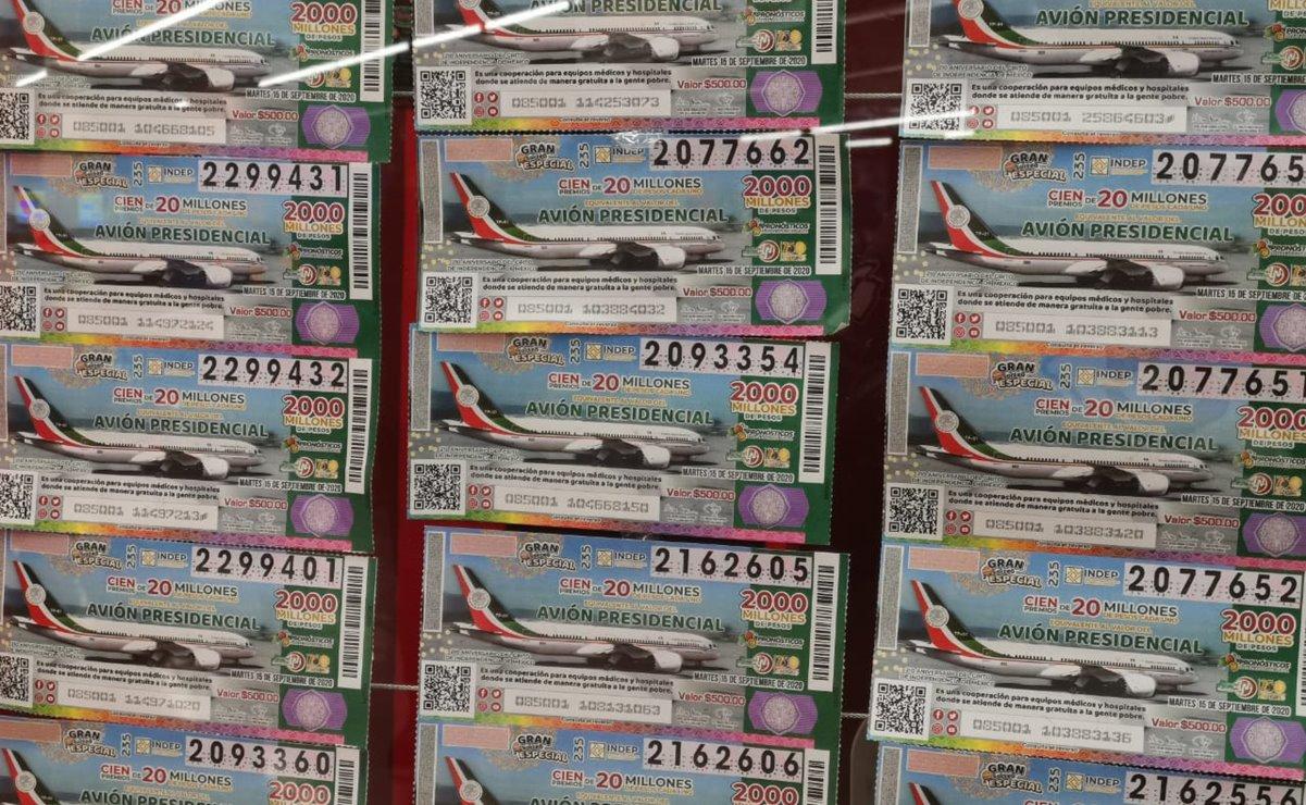 En rifa de avión, 69% de boletos vendidos