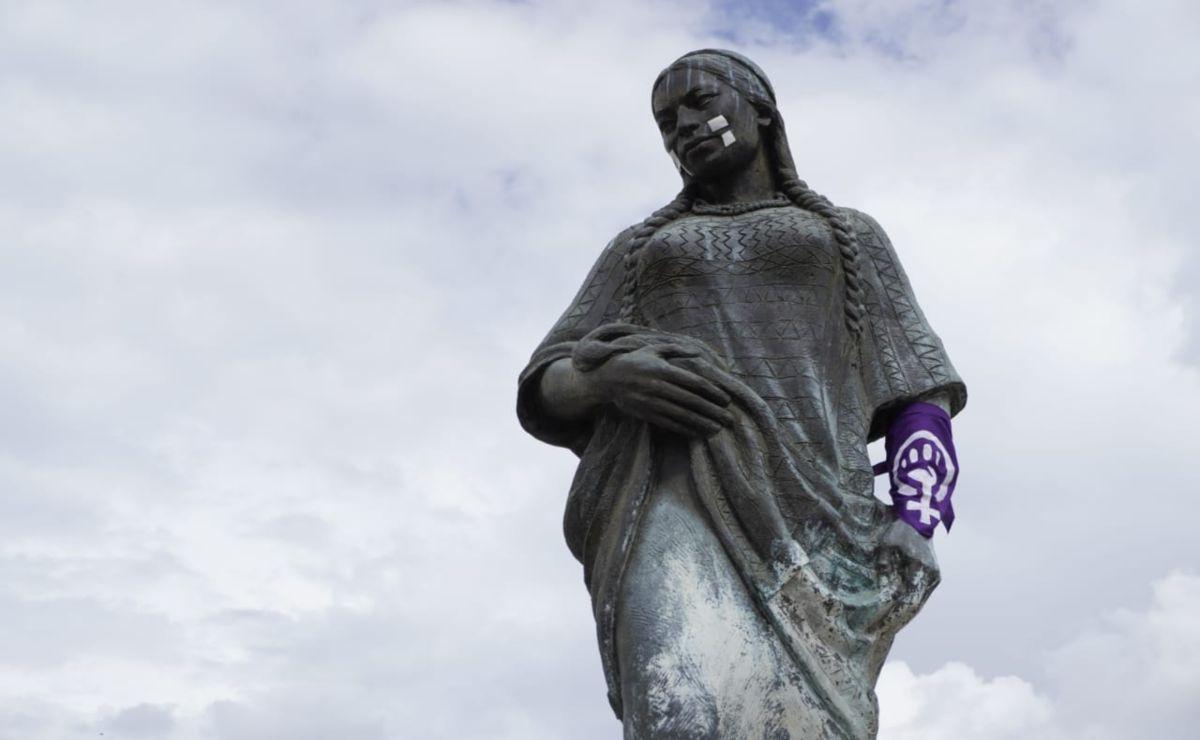 """""""Si hay feminicidios no hay independencia"""", claman mujeres de Oaxaca en """"La antigrita"""""""