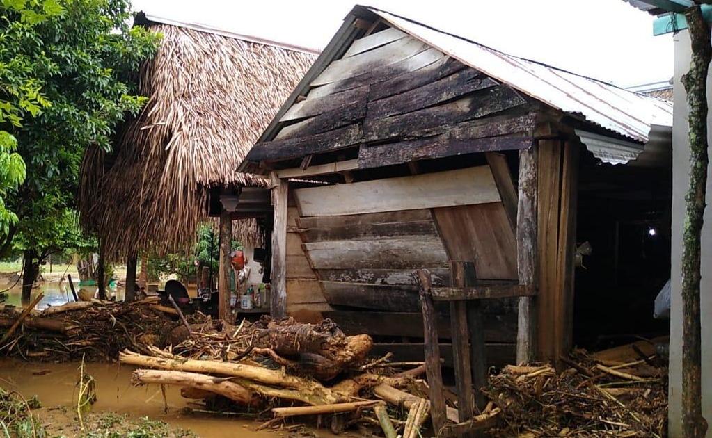 Lluvias dejan un muerto y afectaciones en cinco municipios de la Cuenca del Papaloapan