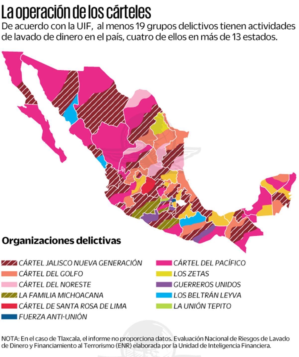 Cinco cárteles realizan actividades de lavado de dinero en Oaxaca: Unidad de Inteligencia Financiera