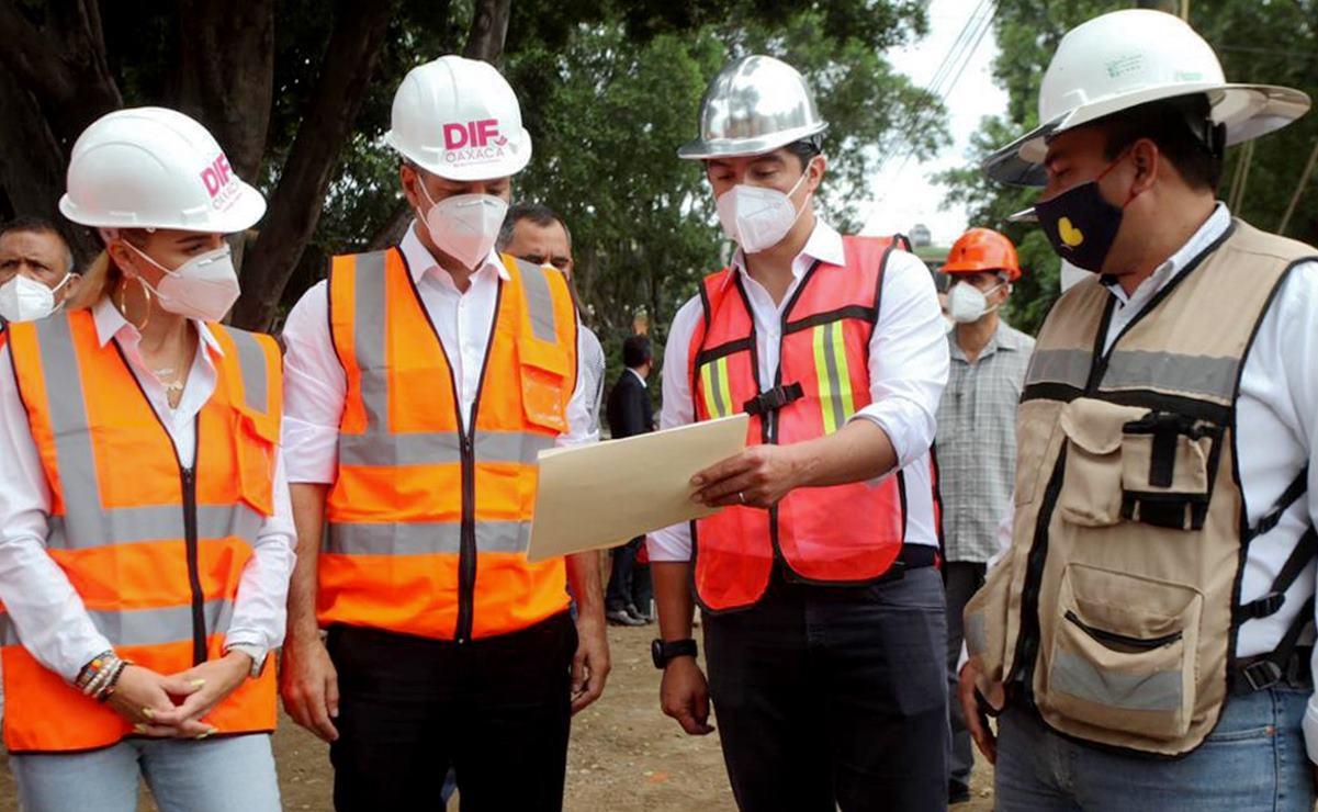 """Supervisa Murat avance en obras de """"Casa de Alas"""", complejo que albergará al DIF Oaxaca"""