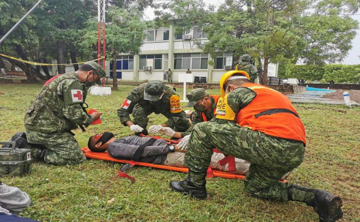 En Ixtepec, realiza Ejército demostración de protocolo Plan DN-III en sismos e inundaciones