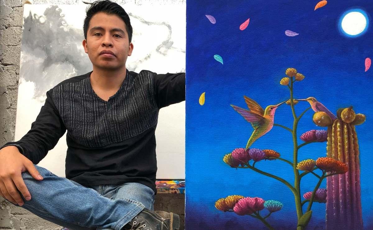 Desde la región chocholteca, joven pintor oaxaqueño impulsa talento de 80 niños de todo el mundo