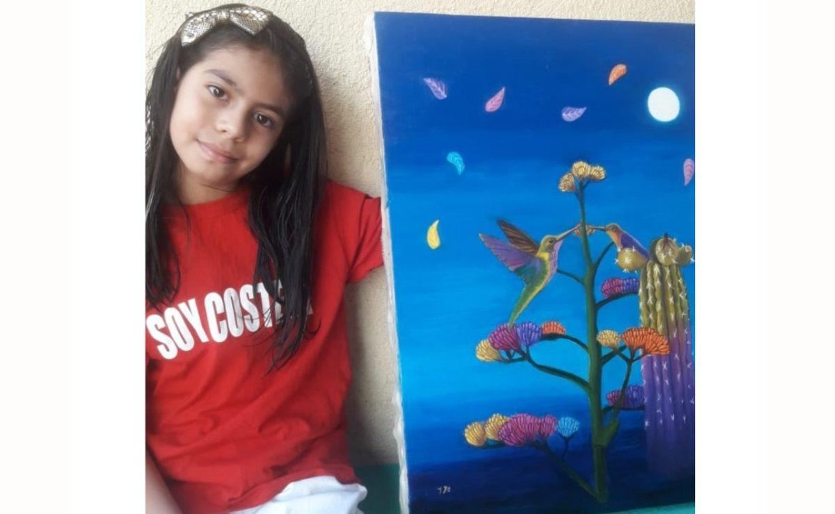 El arte de Kaori, de 9 años, la lleva a ganar concurso internacional Polinizadores de Esperanza