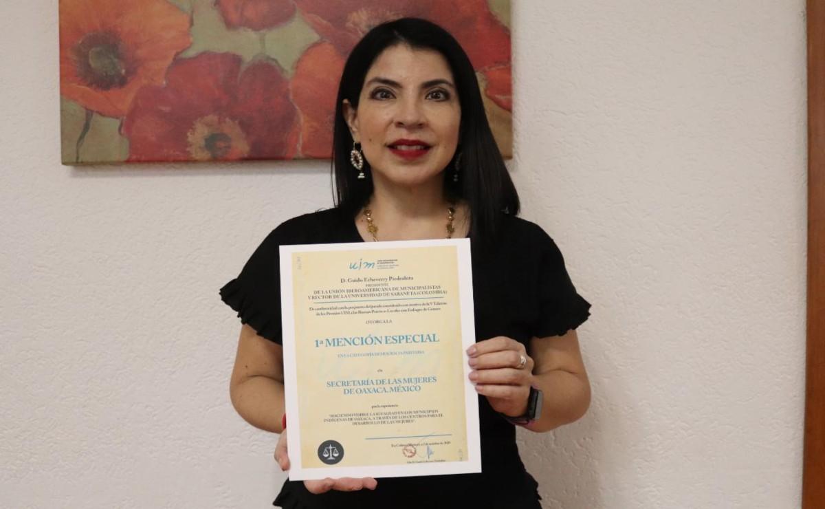 Premian a Secretaría de las Mujeres de Oaxaca por avances de igualdad en municipios indígenas