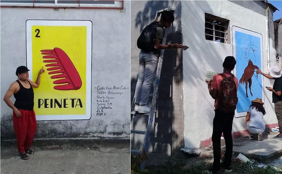 Jóvenes plasman en cartas de lotería apodos tradicionales de Unión Hidalgo